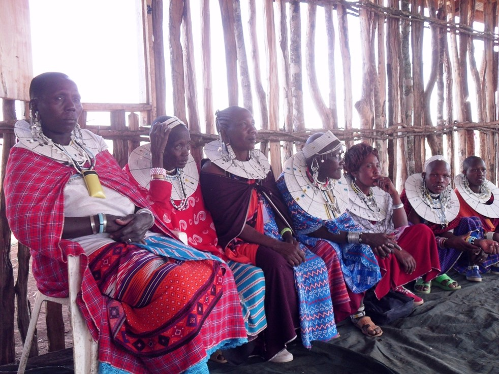 Meeting of widows with community elders
