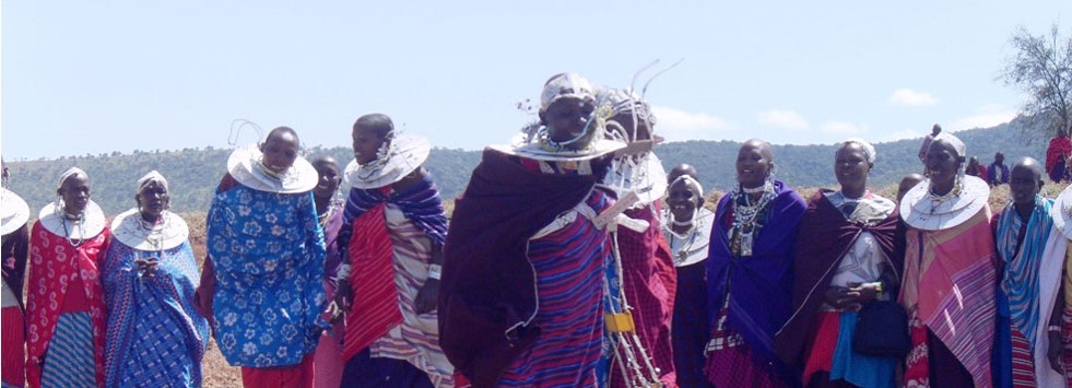 Dancing at a widows meeting